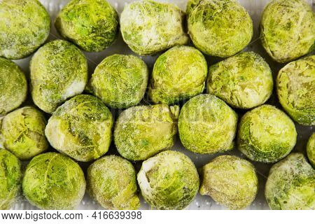 Brussels Sprouts Quick-frozen Green, Useful Products Vitamins