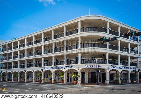 Grand Cayman, Cayman Islands, July 2020, View Of Turtle Bay Gift Shop In George Town