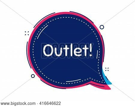 Outlet Symbol. Thought Bubble Vector Banner. Special Offer Price Sign. Advertising Discounts. Dialog