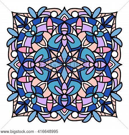Islamic Mandala Icon. Hand Drawn And Outline Illustration Of Islamic Mandala Vector Icon For Web Des