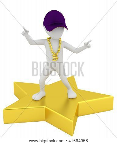 3D Small Person - A Star.