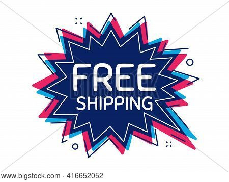 Free Shipping. Thought Bubble Vector Banner. Delivery Included Sign. Special Offer Symbol. Dialogue