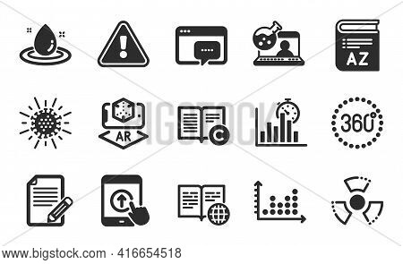 Seo Message, Copyright And Fuel Energy Icons Simple Set. Vocabulary, Online Chemistry And Swipe Up S