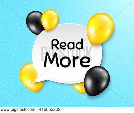 Read More Symbol. Balloon Party Banner With Speech Bubble. Navigation Sign. Get Description Info. Bi