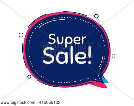 Super Sale. Thought Bubble Vector Banner. Special Offer Price Sign. Advertising Discounts Symbol. Di