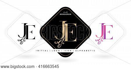 Je Initial Letter And Graphic Name, Je Monogram, For Wedding Couple Logo Monogram, Logo Company And