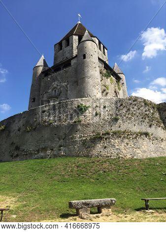 Caesar's Tower (tour De Caesar) In The Medieval Village Of Provins, France