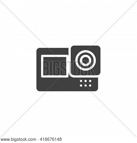 Action Camera Vector Icon. Filled Flat Sign For Mobile Concept And Web Design. Action Video Camera G