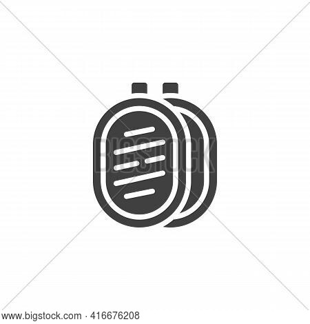 Photography Reflector Vector Icon. Filled Flat Sign For Mobile Concept And Web Design. Light Reflect