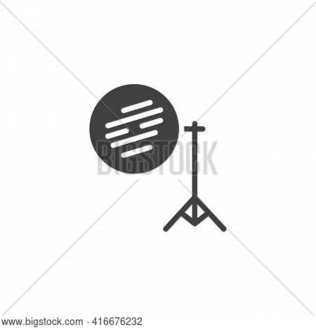 Photography Reflector On Tripod Vector Icon. Filled Flat Sign For Mobile Concept And Web Design. Lig
