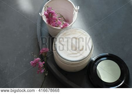 Body Butter For Skin Nourishing And Moisturizing. Hand Made Cream For Dry Skin. Bath And Wellness Tr