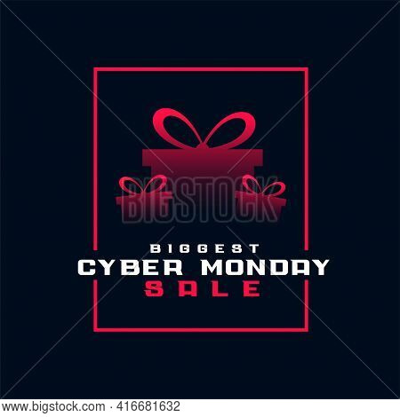Stylish Biggest Cyber Monday Sale Giftbox Background
