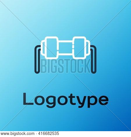 Line Resistor Electricity Icon Isolated On Blue Background. Colorful Outline Concept. Vector Illustr