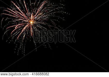 Beautiful Bright Firework Lighting Up Night Sky