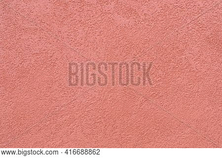 The Texture Of The Plaster On The Exterior Walls Of The Houses Is Painted In Ocher Color