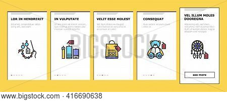 Diy Crafts Handmade Onboarding Mobile App Page Screen Vector. Diy Crafts Soap And Clothes, Alcohol D