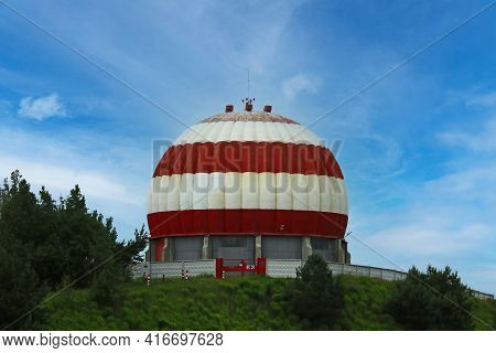 A Beautiful Small Architectural Building In The Form Of A Dome