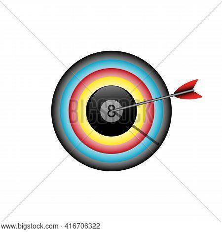 Illustration Vector Design Graphic Of Bullseye With Billiard Balls