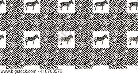 Ethnic Trend. Painting In African Style. Seamless African Pattern. Traditional Pattern. Savanna Anim