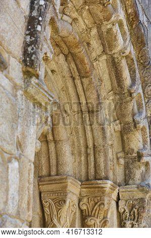 Romanesque Arch. San Xoan Da Cova Church In Ribeira Sacra