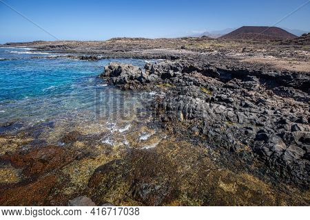Volcanic Rocks On Coastline Of Canary Island