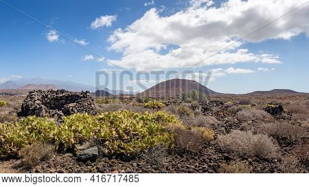 Panorama Of Volcanic Landscape Of South Tenerife