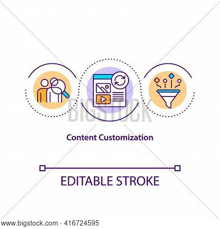 Content Customization Concept Icon. Information Can Customize Content In Various Ways. Email Customi