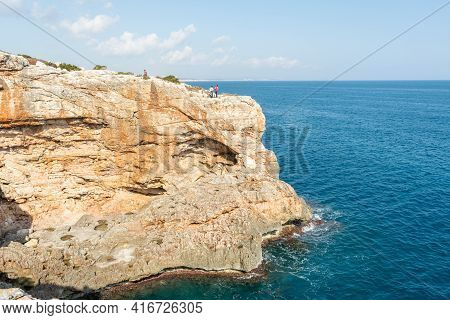 Seascape, Cliff In The Mediterranean Sea, Greatness Of Nature,