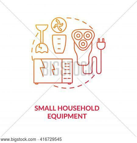 Small Household Equipment Concept Icon. E-waste Category Idea Thin Line Illustration. Waste Manageme