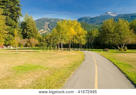 Green city park in Whistler, Vancouver, Canada.