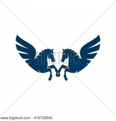 Pegasus Letter M Logo Icon Vector Concept Graphic Design