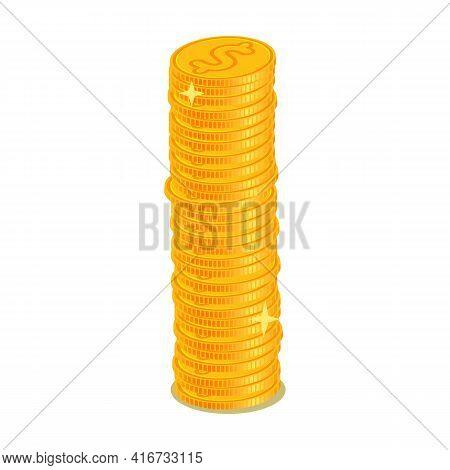 Pile Of Money Cartoon Vector Icon.cartoon Vector Illustration Of Pile Of Dollar Icon. Illustration I