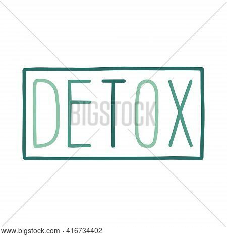 Detox Vector Lettering. Detox Logo Emblem Design For Healthy Food And Drink Products. Template For R