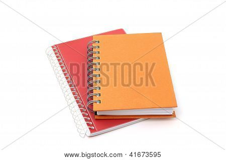 Two Notebooks Isolated On White Background
