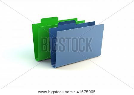 Green And Blue Folders