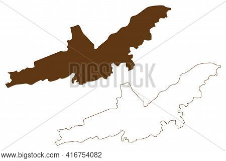 Landshut City (federal Republic Of Germany, Urban District Lower Bavaria, Free State Of Bavaria) Map