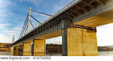 View At The Liberty Bridge In Novi Sad, Serbia