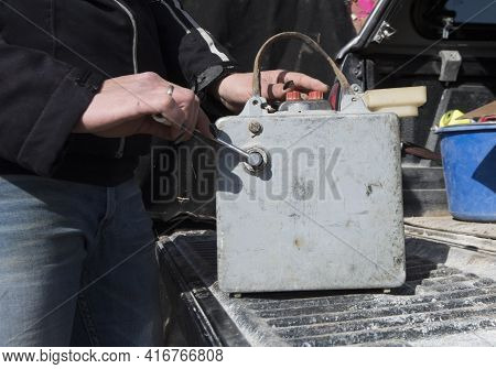 Trigger And Cable To Ignite A Blasting Or An Explosion