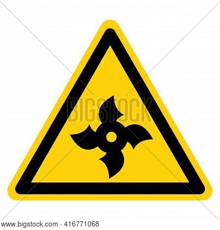 Ninja Throwing Stars Symbol Sign,vector Illustration, Isolate On White Background Label. Eps10