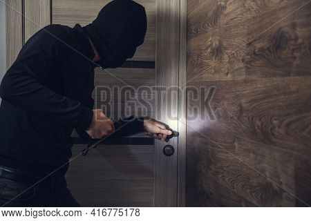 The Dangerous Burglar Sneaking Into The House