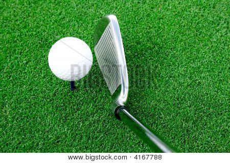 Golf Ball And Club View Semi Shade