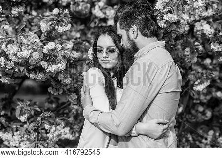 Spring Love Time. Young Stylish Couple In Love Outdoors. Couple In Sunny Spring Day. Happy Easter. P