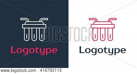Logotype Line Water Filter Icon Isolated On White Background. System For Filtration Of Water. Revers