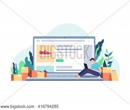 Man Shopping Online Concept