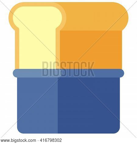 Bread Pan Icon, Bakery And Baking Related Vector Illustration