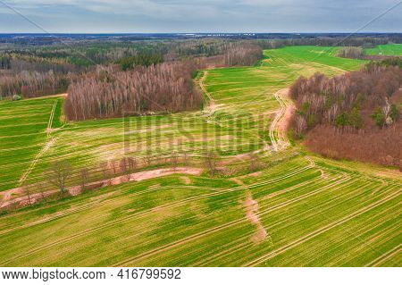 The Sudeten Foothills, An Undulating, Uneven Terrain North Of The Karkonosze Mountains. It Is Covere