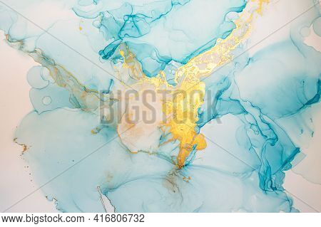 Vibrant Abstract Liquid. Alcohol Inks Splash. Glitter Wave Wallpaper. Ink Acrylic Effect. Abstract B