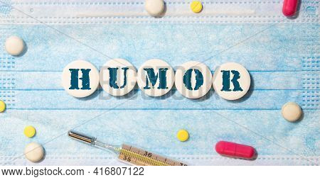 Humor Word Written In Wooden Cube, Concept