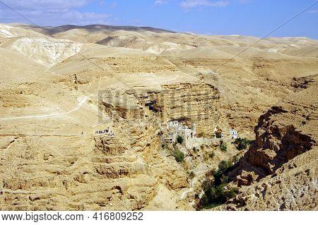 St. George Orthodox Monastery. St. George Orthodox Monastery, Located In Wadi Qelt, In The Eastern