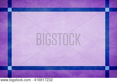 Lavender Grunge Textured Frame Around Mauve Textured Parchment Background With Blue Grunge Textured